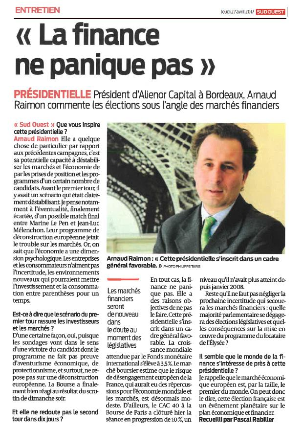 Sud Ouest - 24 avril 2017